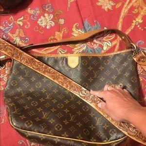 Boho leather crossbody purse strap
